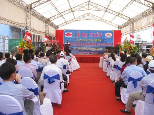 Cho thuê thiết bị sự kiện tổ chức Lễ Hạ Thủy công ty SÀI GÒN SHIPMARIN